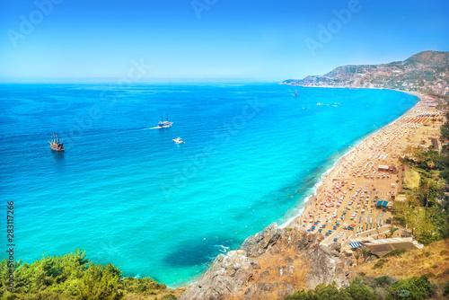 Obraz na plátně Средиземное море с высоты Mediterranean Sea from the height