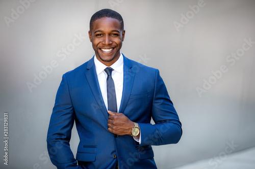 Valokuva Stylish handsome commercial model business man, executive, corporate professiona