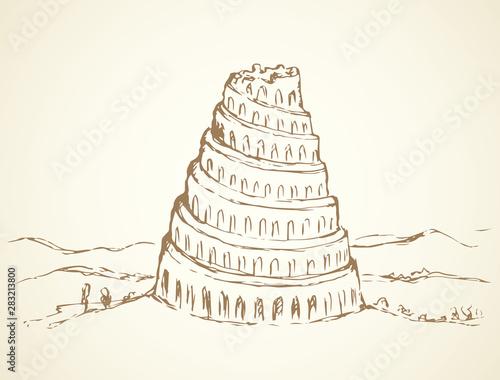 Slika na platnu Tower of Babel. Vector drawing