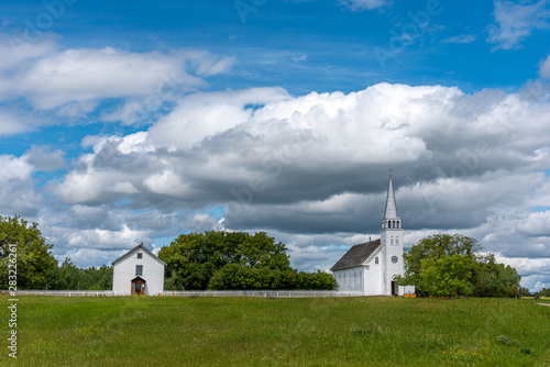 Carta da parati The Saint Antoine de Padoue Roman Catholic church at Batoche, Saskatchewan
