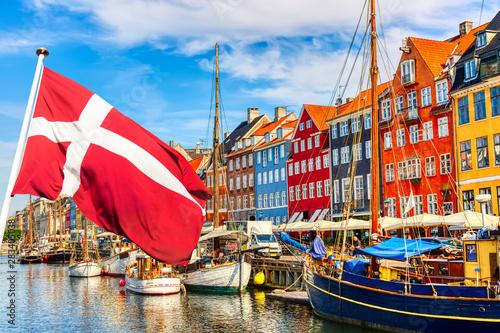 Canvas Print Copenhagen iconic view