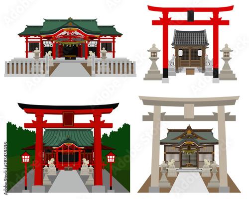 Canvas Print 神社稲荷神社セット