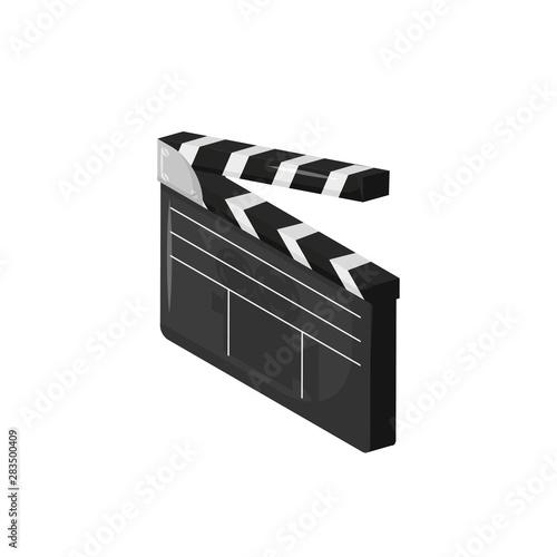 cinema movie clapperboard isometry in flat style Fototapeta