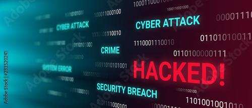 Canvastavla Hacked information concept