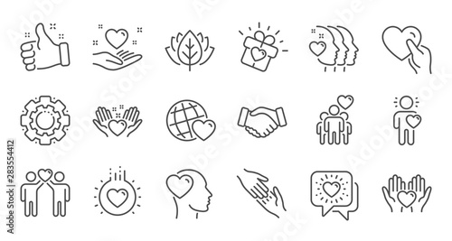 Photo Friendship and love line icons