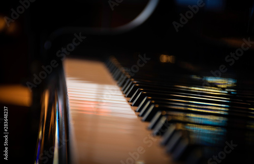 Fotografie, Obraz Piano Keyboard with a perfect illumination
