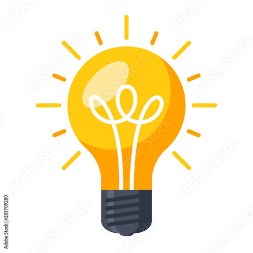 Fotografering Innovative idea modern stylish icon with light bulb