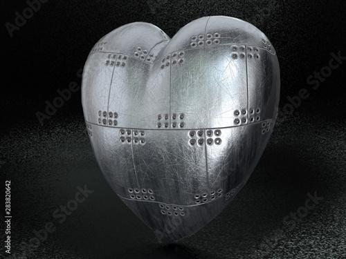 Obraz na plátne Metal armoured heart