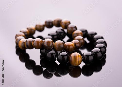 Stampa su Tela Stone bead bracelets handmade from lucky stones