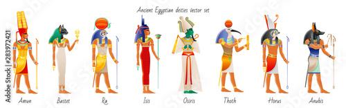 Foto Ancient god goddess from Egypt icon set