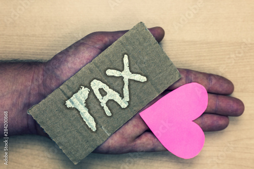Canvas Print Writing note showing Tax