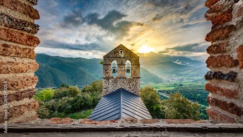 San Miguel Hermitage near Potes, Cantabria, Spain.
