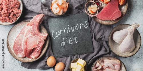 Billede på lærred Selection food for CARNIVORE DIET