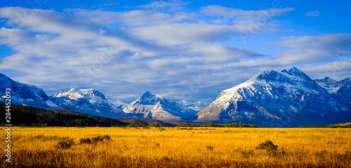 Photo Montana, USA. Glacier National Park, landscape, autumn