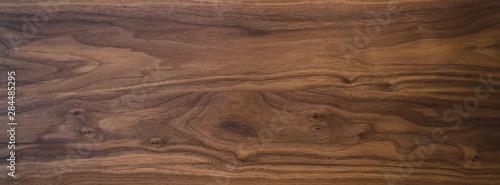 Obraz na plátně Black walnut wood texture from two boards oil finished