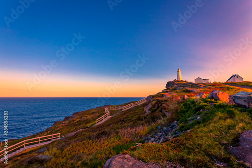 Canvas Print View of Cape Spear Lighthouse National Historic Site at Newfoundland Canada duri