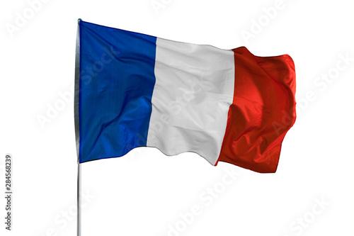 France flag waving in the air Fototapet