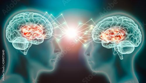 Fotografia Love emotion or empathy cerebral or brain activity in caudate nucleus