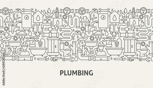 Fotografija Plumbing Banner Concept