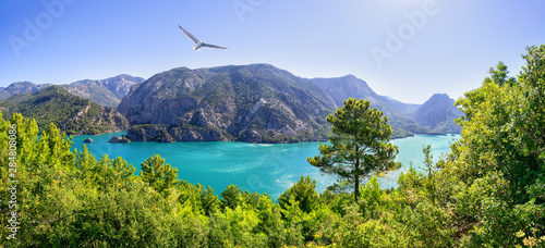 Canvas-taulu Green canyon. Reservoir Oymapinar on the river Manavgat