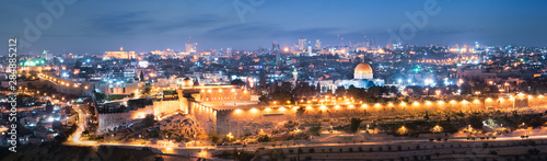 Fototapeta premium Jerozolima nocą