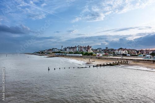 Southwold beach on the Suffolk coast of East Anglia Fototapet