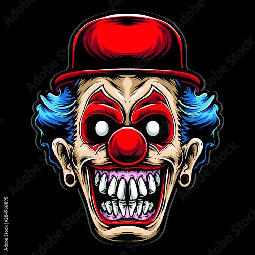 Fényképezés scary clown with red hat