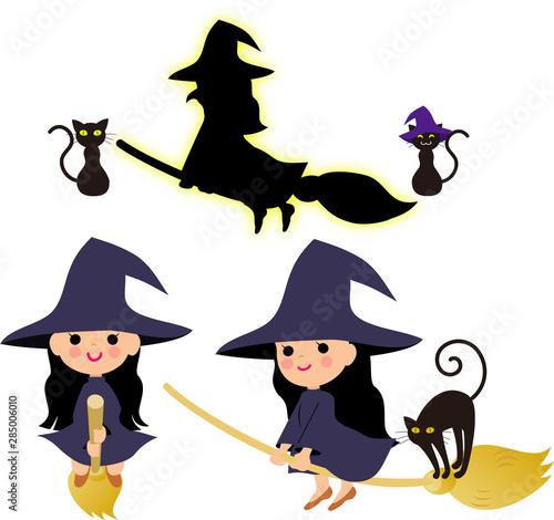 Obraz na plátne ハロウィンのモンスターと魔女
