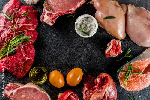 Foto Carnivore diet background