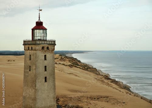 Stampa su Tela Leuchtturm Rubjerg in Dänemark