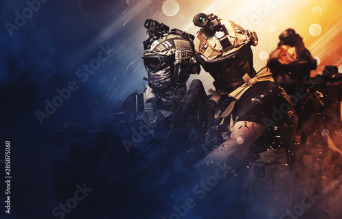 Fotografia, Obraz special forces soldier , military concept