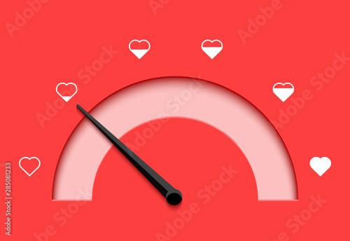 Photo Love meter heart indicator