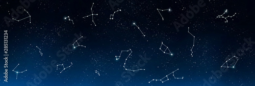 Fotografija Universe background with set of famous constellations