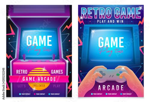 Retro gaming, Game of 80s-90s Fototapete