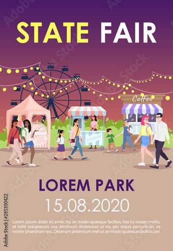 Fotografie, Tablou State fair brochure template