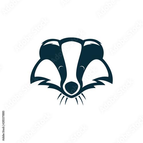 Fotografía badger head logo illustration