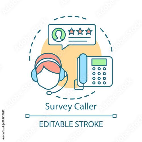 Survey caller concept icon Tapéta, Fotótapéta