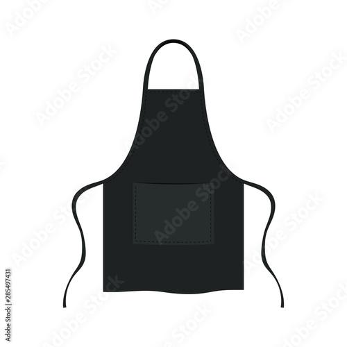 Photo Kitchen stylish apron vector design illustration isolated on white background
