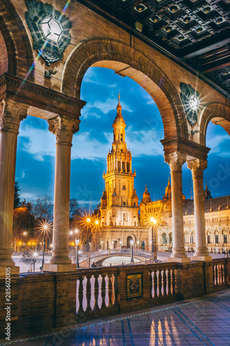 Séville place d'Espagne Espagne