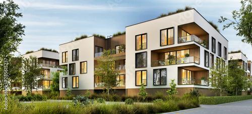 Fotografia Modern residential buildings
