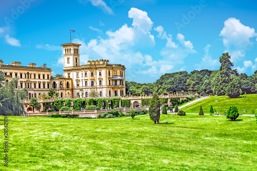 Canvas Print Osborne House in East Cowes, Isle of Wight