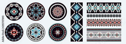 Obraz na płótnie Set of Ethnic decorative elements