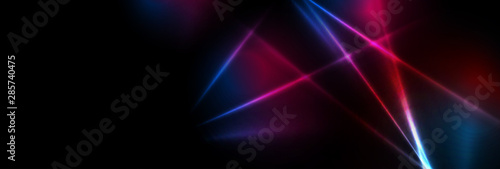 Obraz na płótnie Abstract blue red purple tech glowing neon lines background