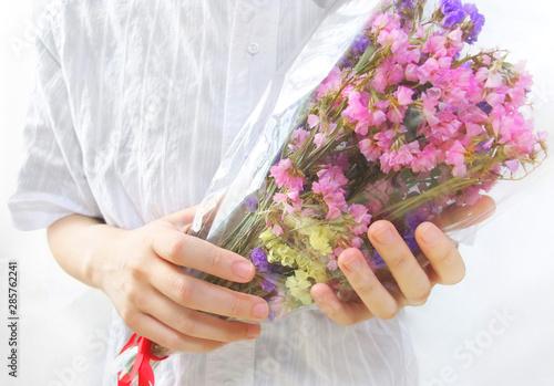 Leinwand Poster 花束の贈呈