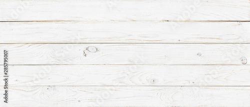Fotografie, Obraz white wood texture background, wide wooden plank panel pattern