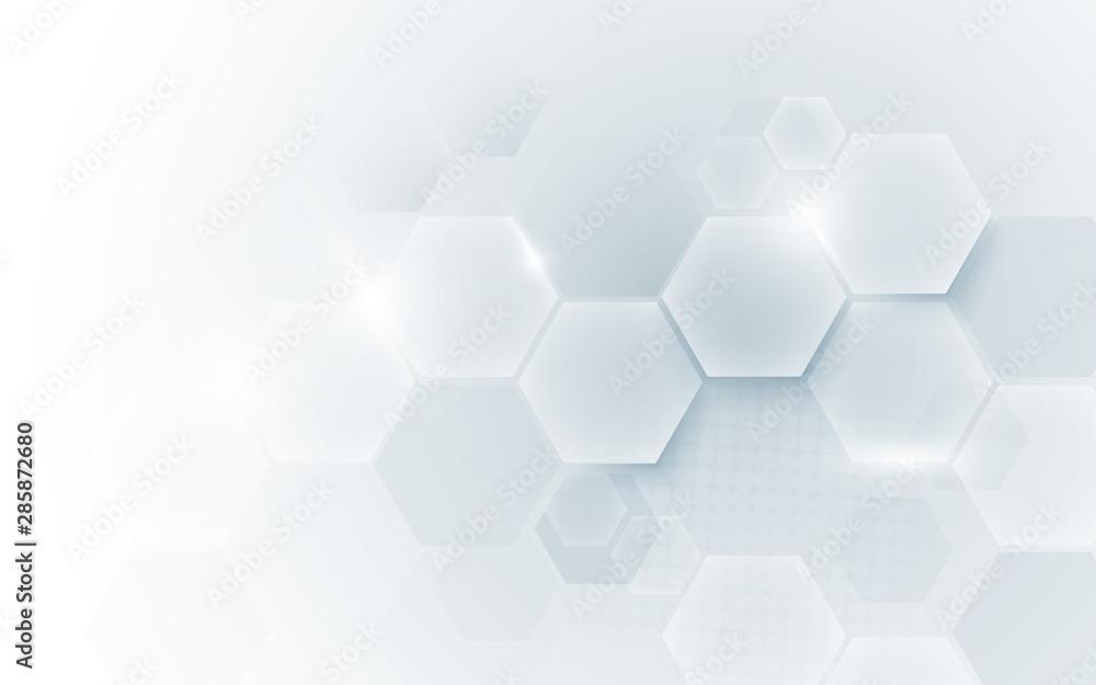 Abstrakcjonistycznej geometrycznej kształt technologii cyfrowej technologii pojęcia cześć tło. Miejsce na Twój tekst <span>plik: #285872680   autor: pickup</span>