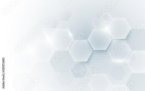 Obraz na płótnie Abstract geometric shape technology digital hi tech concept background