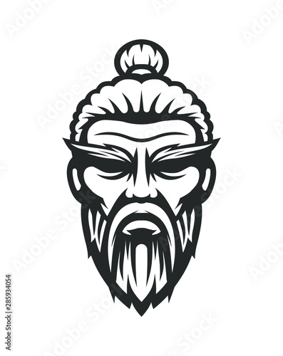 Wallpaper Mural Sensei logo. Old master kung fu