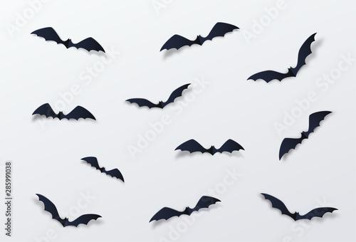Canvas-taulu Halloween bat vector decor background