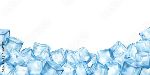 Valokuvatapetti Ice Cubes Blocks Frame